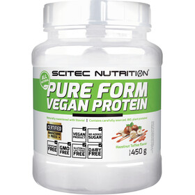 SCITEC Pure Form Vegan Protein Powder 450g Hazelnut-Toffee